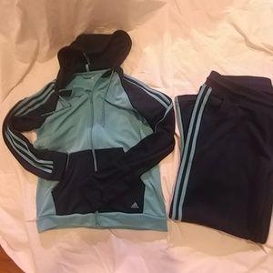Women's Adidas track suit set
